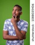 studio shot of young handsome... | Shutterstock . vector #1088035406