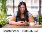 portrait of beautiful...   Shutterstock . vector #1088037869