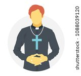 a person dressed up as priest... | Shutterstock .eps vector #1088039120