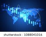abstract technology world map... | Shutterstock .eps vector #1088041016
