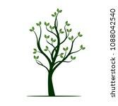 green spring tree. vector... | Shutterstock .eps vector #1088042540