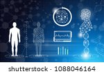 abstract background technology... | Shutterstock . vector #1088046164