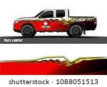 pickup truck wrap design.... | Shutterstock .eps vector #1088051513