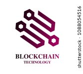 blockchain technology logo.... | Shutterstock .eps vector #1088054516