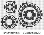 vector white box abstract cycle ... | Shutterstock .eps vector #1088058020