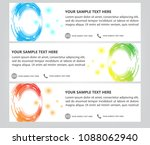 circle color technology banner... | Shutterstock .eps vector #1088062940