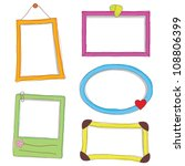 frame doodle with different... | Shutterstock .eps vector #108806399