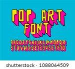 pop art font 3d | Shutterstock .eps vector #1088064509