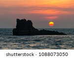 beautiful tropical sunrise over ... | Shutterstock . vector #1088073050
