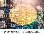 modern way of exchange. bitcoin ... | Shutterstock . vector #1088076368
