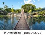 hanging bridge at loboc river   ... | Shutterstock . vector #1088092778