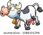 mooing cartoon cow. vector clip ... | Shutterstock .eps vector #1088101298