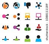 solid vector ixon set   client... | Shutterstock .eps vector #1088111189
