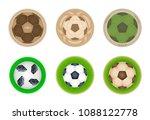 vector set of drink coasters... | Shutterstock .eps vector #1088122778