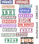 stamp collection | Shutterstock .eps vector #10881265