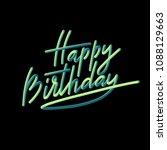 happy birthday typography with... | Shutterstock .eps vector #1088129663