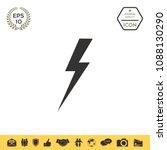 thunderstorm lightning icon | Shutterstock .eps vector #1088130290