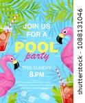 vector illustration  invitation ... | Shutterstock .eps vector #1088131046