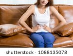 woman having pain in stomach ... | Shutterstock . vector #1088135078