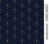 flowery feather seamless motif. ...   Shutterstock . vector #1088138303