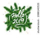 hello 2019. happy new year... | Shutterstock . vector #1088140520