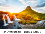 an epic sunset with... | Shutterstock . vector #1088142833