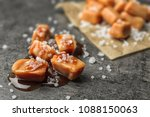 delicious candies with caramel... | Shutterstock . vector #1088150063