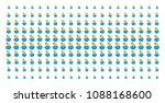 hatch chick icon halftone... | Shutterstock .eps vector #1088168600