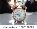 close up of alarm clock with... | Shutterstock . vector #1088170886