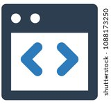 html codetwo colors glyph... | Shutterstock .eps vector #1088173250