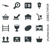 black vector icon set bitcoin... | Shutterstock .eps vector #1088174939