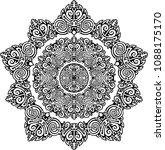sun tattoo outline intricate... | Shutterstock .eps vector #1088175170