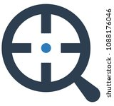 view focus two colors glyph... | Shutterstock .eps vector #1088176046