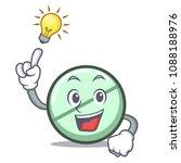 have an idea drug tablet mascot ... | Shutterstock .eps vector #1088188976