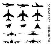 set of plane icons. jet... | Shutterstock .eps vector #1088190500
