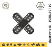 cross adhesive bandage  medical ...   Shutterstock .eps vector #1088193410