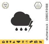 cloud thunderstorm lightning... | Shutterstock .eps vector #1088193488