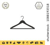 clothes hanger icon | Shutterstock .eps vector #1088193518