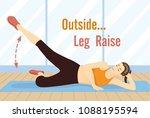 woman doing straight leg raises ... | Shutterstock .eps vector #1088195594