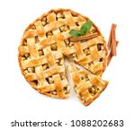 tasty homemade apple pie on...   Shutterstock . vector #1088202683