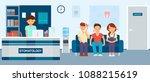 upset patients with toothache... | Shutterstock .eps vector #1088215619