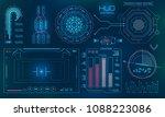 futuristic user interface  hud  ... | Shutterstock .eps vector #1088223086