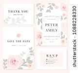 vector template set. wedding... | Shutterstock .eps vector #1088228330