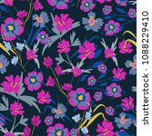 seamless pattern with small... | Shutterstock .eps vector #1088229410