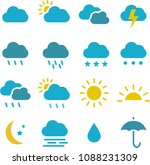 weather icons set pack vector | Shutterstock .eps vector #1088231309