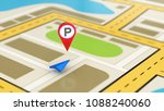 navigation map showing the... | Shutterstock . vector #1088240060
