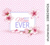 happy mother's day vector card. ... | Shutterstock .eps vector #1088240426