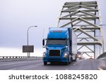 blue big rig powerful excellent ... | Shutterstock . vector #1088245820