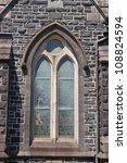 An Old Wooden Church Window