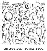 hand drawn sketch doodle vector ... | Shutterstock .eps vector #1088246300